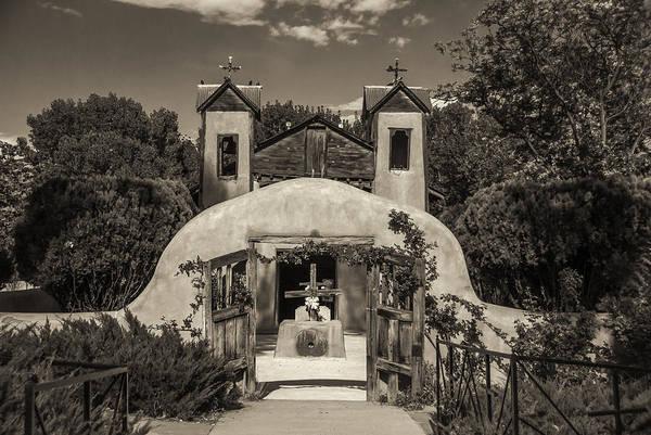 Photograph - El Santuario De Chimayo - Sepia by Joye Ardyn Durham