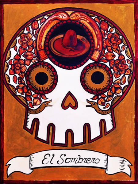 Sombrero Painting - El Sombrero - The Hat by Mix Luera