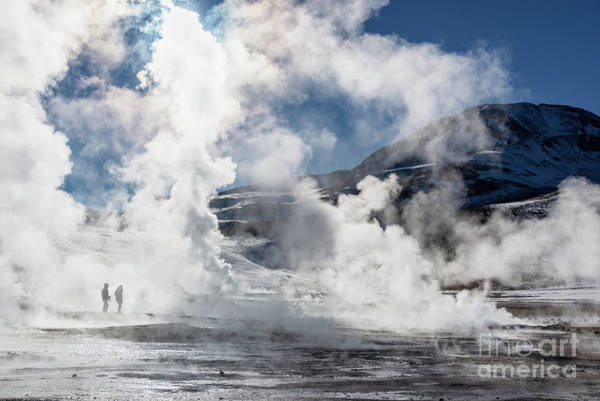 Geysers Photograph - El Tatio Geysers In Chile by Delphimages Photo Creations