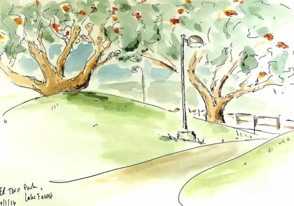 Painting - El Toro Park by Maria Langgle