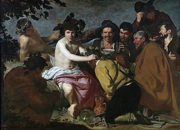 Velazquez Wall Art - Painting - El Triunfo De Baco O Los Borrachos Museo Del Prado,  by Velazquez
