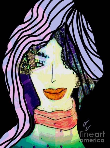 Mixed Media - Elaine by Ann Calvo