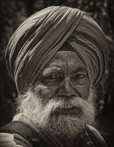 Elderly Sikh  Art Print