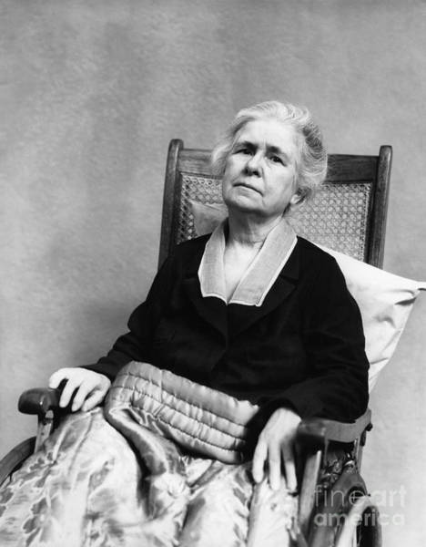 Elder Care Photograph - Elderly Woman In Wheelchair by H. Armstrong Roberts/ClassicStock