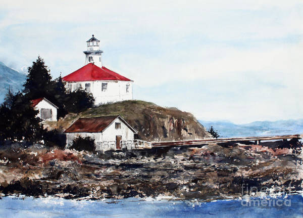 Painting - Eldred Rock Lighthouse by Monte Toon