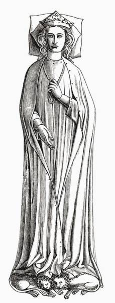 Castilla Drawing - Eleanor Of Castile, 1241 To 1290. First by Vintage Design Pics