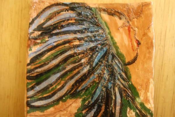 Ceramic Art - Eleanora - Tile by Gloria Ssali