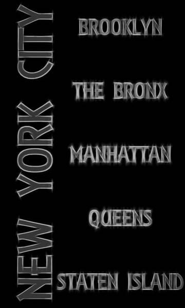 Digital Art - Electric Boroughs Of New York City by Dan Sproul