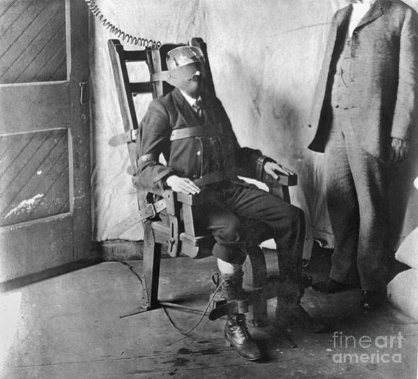 Photograph - Electric Chair, 1908 by Granger