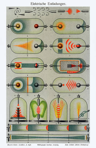 Distribution Drawing - Electric Discharges by Unknown