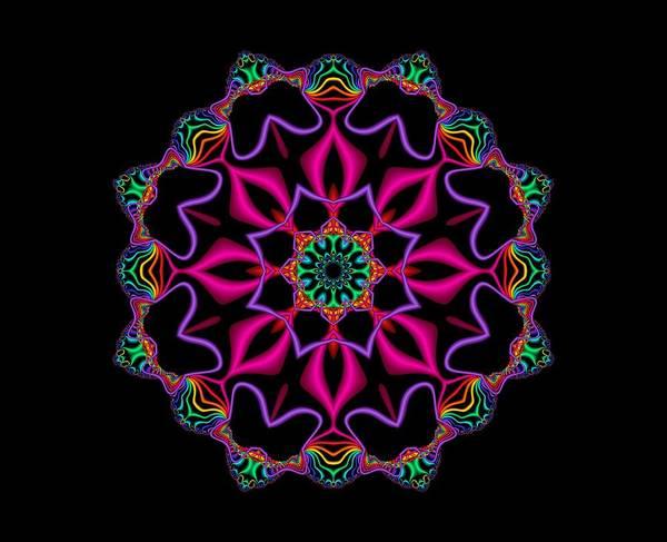 Digital Art - Electric Fractal Flower by Ruth Moratz
