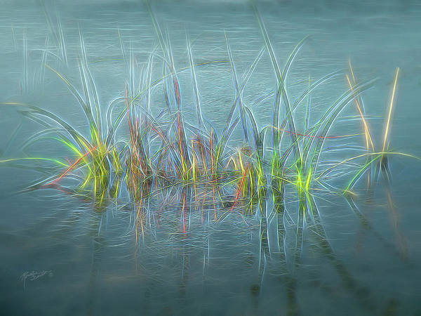 Mixed Media - Electric Grass by Rosalie Scanlon