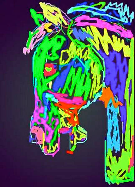 Digital Art - Electric Horse by Bern Miller
