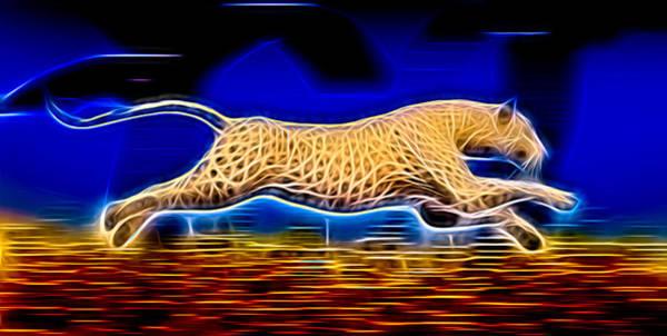 Wall Art - Digital Art - Electric Jaguar by Daniel Eskridge