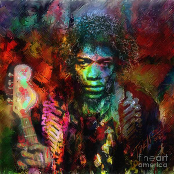Wall Art - Mixed Media - Jimmy Hendrix Electric Lady Land... by Mark Tonelli