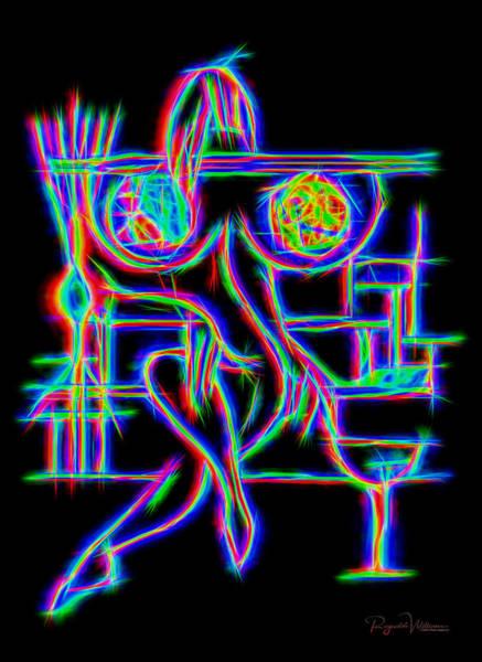 Digital Art - Electric Lady by Reynaldo Williams