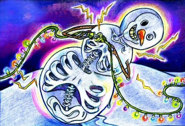 Drawing - Electric Lights On Strings by Nada Meeks