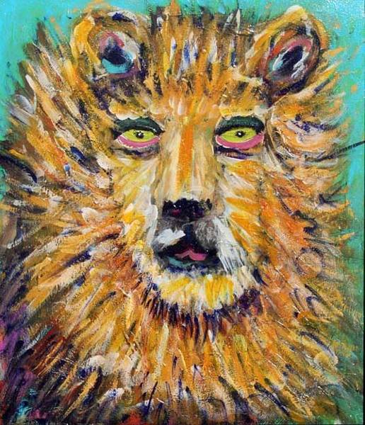 Painting - Electric Lion by Banning Lary