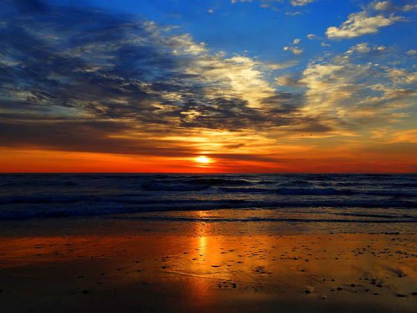 Wall Art - Photograph - Electric Golden Ocean Sunrise by Dianne Cowen