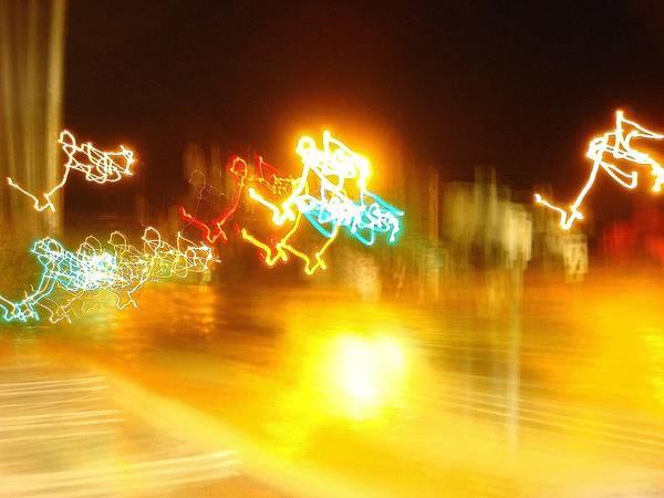 Wall Art - Photograph - Electric Reindeer - Romp by Dahlia Tumavicus