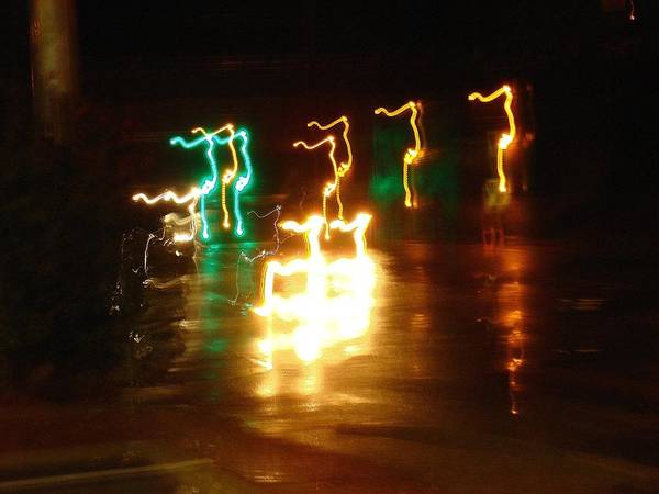 Wall Art - Photograph - Electric Reindeer- Crossing by Dahlia Tumavicus