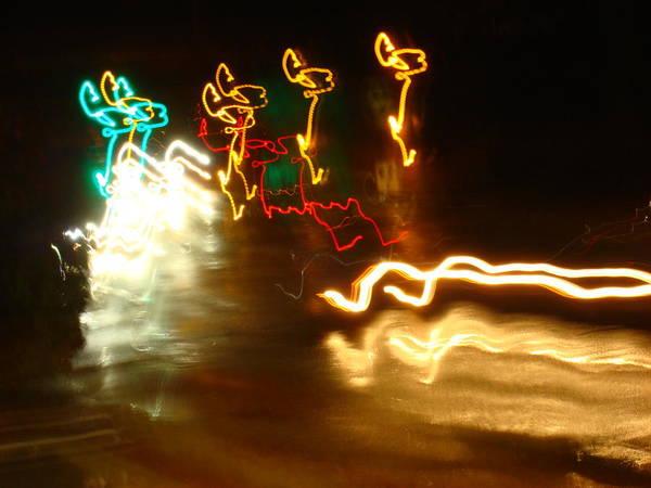 Wall Art - Photograph - Electric Reindeer-fun by Dahlia Tumavicus