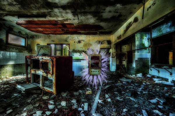Photograph - Electric Shock On Abandoned Hotel On Liguria Mountains - Pericolo Di Scossa Nell'hotel Abbandonato by Enrico Pelos