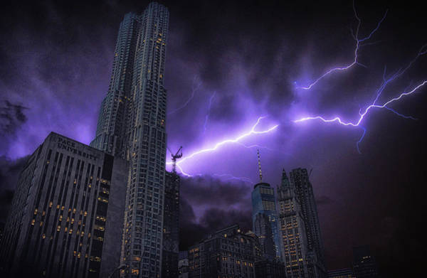Electric Storm Photograph - Electric Storm by Martin Newman