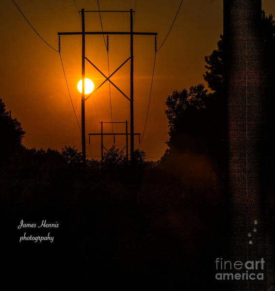 Photograph - Electric Sunset by James Hennis