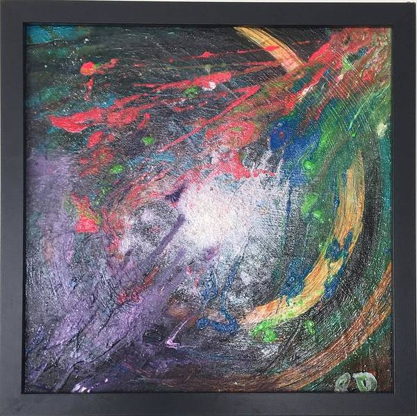 Art Print featuring the painting Electric Supernova by Rebecca Davidson