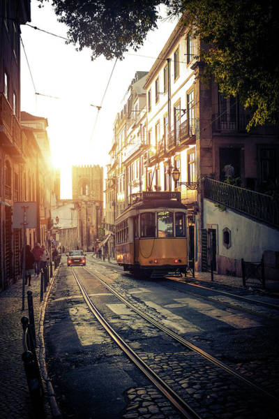 Wall Art - Photograph - Electric Tram In Lisbon by Carlos Caetano