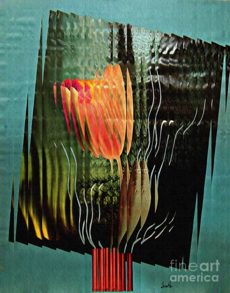 Electric Mixed Media - Electric Tulip 2 by Sarah Loft