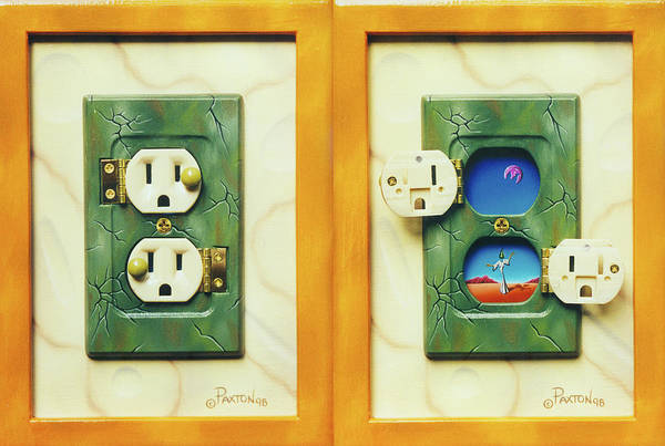 Painting - Electric View Miniature Shown Closed And Open by Paxton Mobley