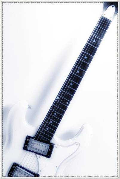 Strat Photograph - Electric White by Bill Cannon
