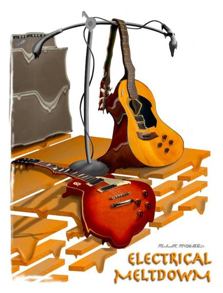 Electric Guitar Wall Art - Photograph - Electrical Meltdown Se by Mike McGlothlen