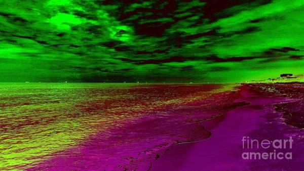 Photograph - Electriphernicus Beachscape by Rachel Hannah