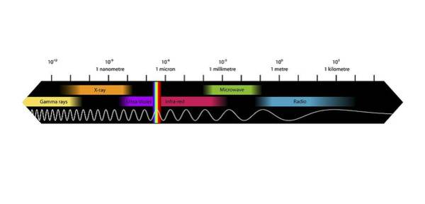Infrared Radiation Photograph - Electromagnetic Spectrum, Artwork by Equinox Graphics