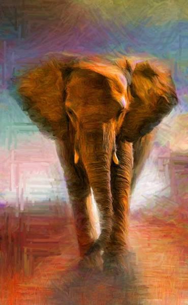 Digital Art - Elephant 1 by Caito Junqueira