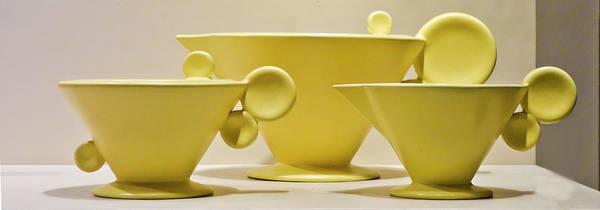 Photograph - Elegant 1950s Ceramic Cups by Matthew Bamberg