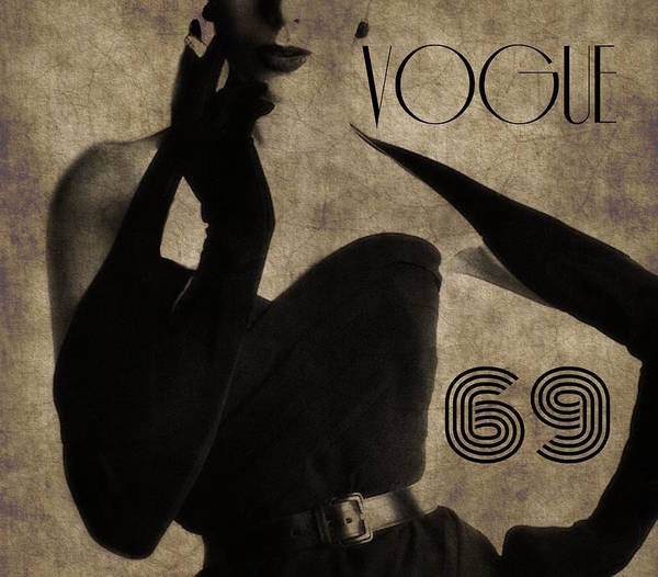 Vintage Poster Digital Art - Elegant 69 Vogue  by Paul Lovering