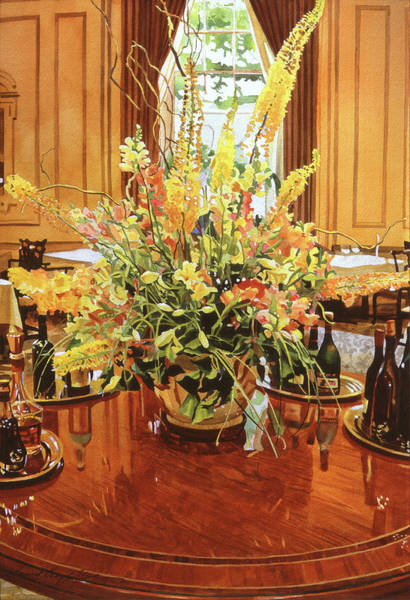 Painting - Elegant Arrangement by David Lloyd Glover