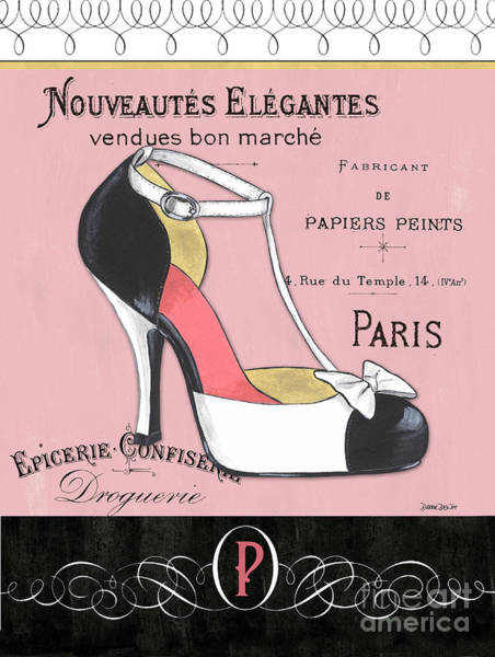 Logos Painting - Elegant French Shoes 1 by Debbie DeWitt