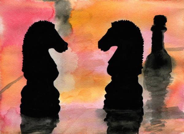 Chess Club Painting - Elegant Game by R Kyllo