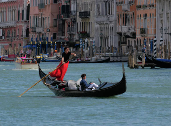 Photograph - Elegant Gondolier by S Paul Sahm