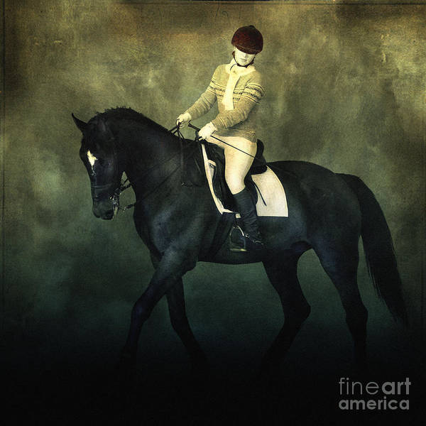 Elegant Horse Rider Art Print