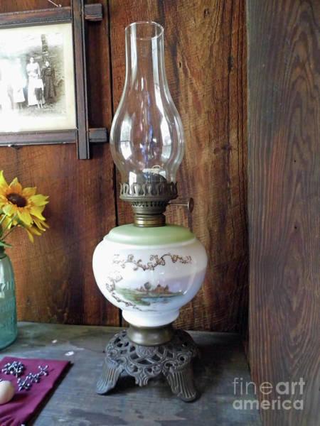 Photograph - Elegant Kerosene Lamp by D Hackett