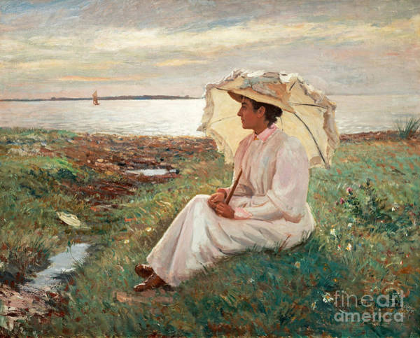 Tr Painting - Elegant Lady By The Sea by Celestial Images