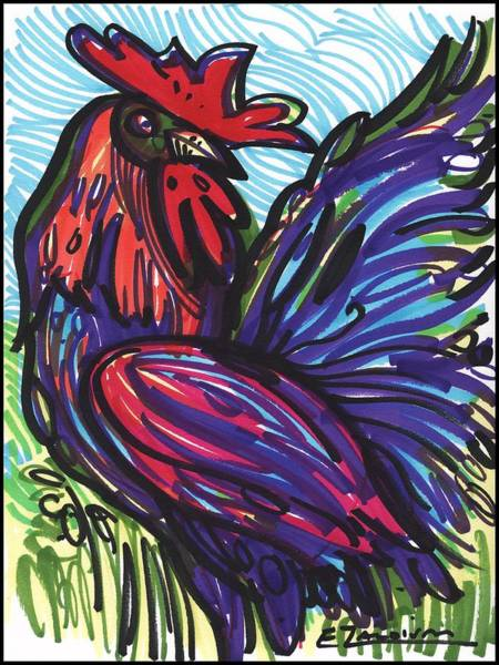 Elegant Rooster Art Print