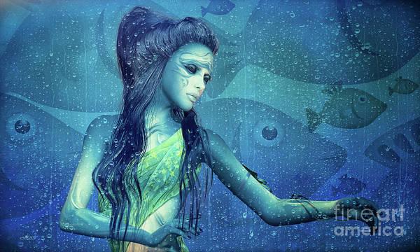 Digital Art - Element Water by Jutta Maria Pusl