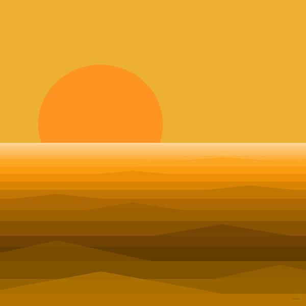Digital Art - Elements - Golden Sunset by Val Arie